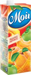 Нектар Яблоко-абрикос с мякотью Мой, 1,45 л., тетра-пак