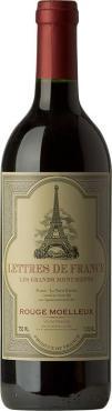Вино Летр де Франс / Letters de France Rouge Moelleux,  Гренаш,  Красное Полусладкое, Франция