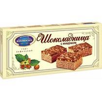 Торт Коломенское вафельный Шоколадница с фундуком