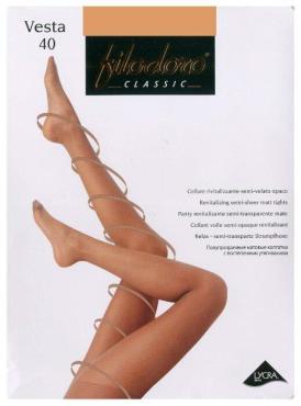Колготки размер 3-M, Filodoro Classic Vesta 40 den, 30 гр., бумажная упаковка