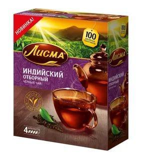 Чай Лисма черный индийский отборный в пакетиках