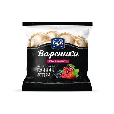 Вареники ягодное ассорти ВЕК, 400 гр., флоу-пак