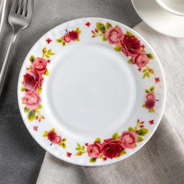 Тарелка десертная Доляна Поэзия роз 17,5 см.