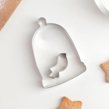 Набор форм для вырезания печенья Доляна Птичка 5,5х6х2 см. 2 шт.