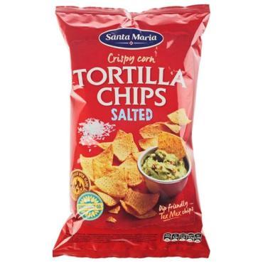 Кукурузные чипсы солёные Santa Maria 185 гр., пластиковый пакет