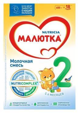 Молочная смесь Малютка 2 с 6 месяцев