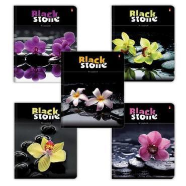 Тетрадь Альт цветы и камни, скоба, клетка, конгрев, гибридный лак, А5, 96 л