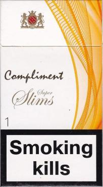 Сигареты с фильтром Compliment, Super Slim1, картонная пачка