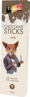 Палочки из молочного шоколада, Viconte, 75 гр., картон