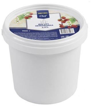 Йогурт Metro Chef земляника 2,5%