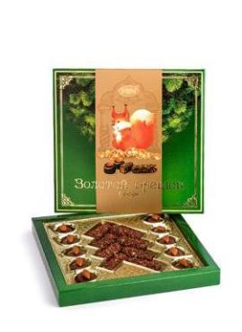 Набор конфет шоколадных Рахат Золотой орешек, 430 гр., картонная коробка