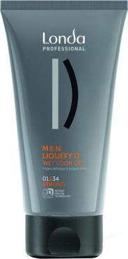 Гель-блеск Londa Professional Styling Men Liquefy IT с эффектом мокрых волос сильной фиксации