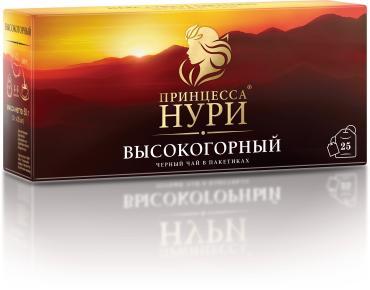 Чай черный Высокогорный, 25пак., Нури, 50 гр., картонная коробка