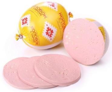 Колбаса вареная с сыром Колобок в/с., Брестский мясокомбинат, 1 кг., оболочка