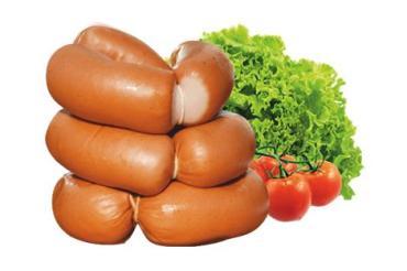 Сардельки вареные из мяса птицы 1 сорт Калинковичский мясокомбинат Мортаделки, 1 кг., оболочка