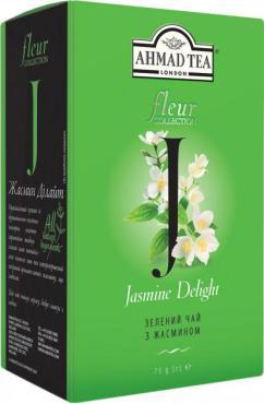 Чай зеленый листовой Ahmad Tea Жасмин Дилайт, 100 гр., картонная коробка