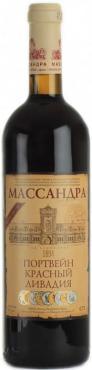 Вино ликерное выдержанное красное Портвейн красный Массандра Ливадия 18,5 %, Россия, 750 мл., стекло