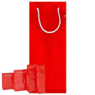 Пакеты подарочные 12х36х10 однотонные красные, Vitto, 300 гр.