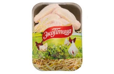 Крыло (целое) цыплёнка-бройлера (замороженное),ЭкоПтица, 800 гр ., подложка