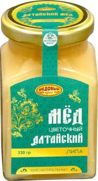 Мёд Медовый край липовый, 330 гр, стекло