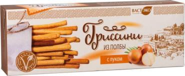 Гриссини из полбы с луком, Вастэко, 170 гр., картонная коробка