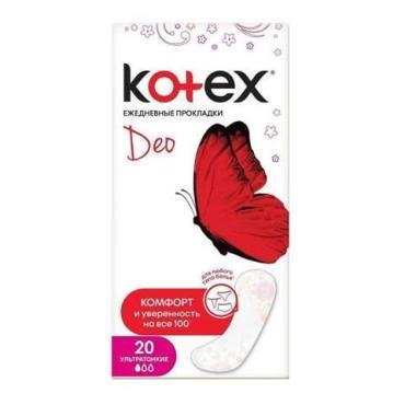 Kotex ежедневные  ультратонкие прокладки ,део 20шт