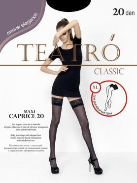 Чулки женские черные 20 ден Teatro Caprice 20 XL, бумажная упаковка