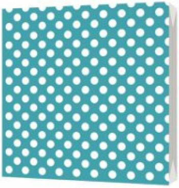 Салфетки бумажные 33х33см 3сл 20шт Bulgaree Green Горох на бирюзовом, 110 гр., пластиковый пакет