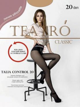 Колготки женские светло-бежевые 20 ден Teatro Talia Control 20, 100 гр., бумажная упаковка