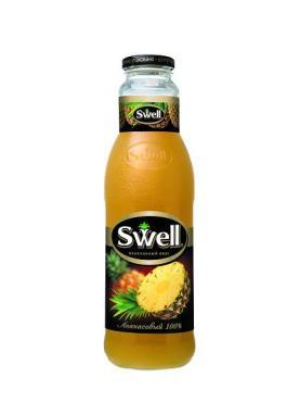 Сок 100% с мякотью, Swell Ананасовый, 750 мл., стекло