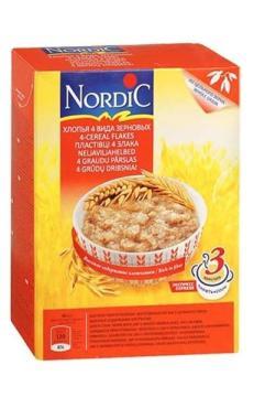 Хлопья Nordic 4 вида зерновых 600г
