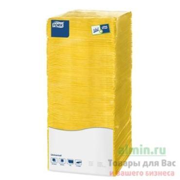 Салфетки Tork Big Pack бумажные 1-слойные желтые