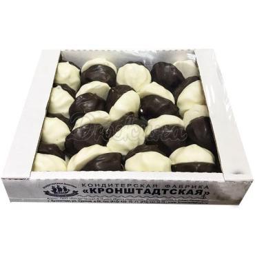 Зефир в глазури со вкусом ванили Кронштадтская Ассорти, 1,2 кг., картонная коробка