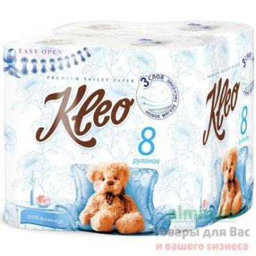 Туалетная бумага Kleo Ultra 3 слоя 8шт.