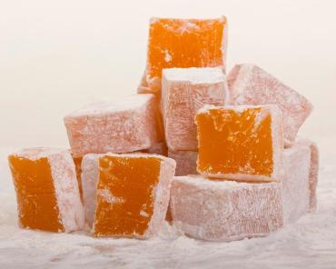 Рахат-лукум нуга с ароматом апельсина, Нимет, 2 кг, картон