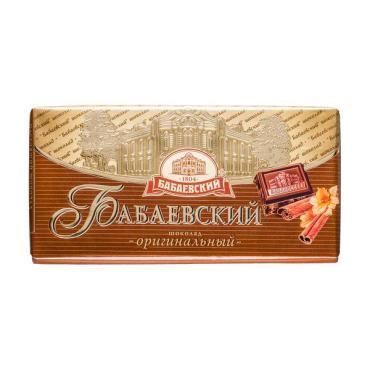 Шоколад оригинальный Бабаевский, 100 гр., обертка фольга/бумага