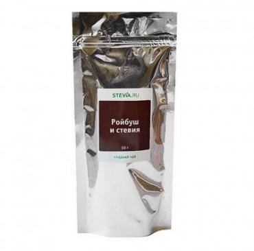 Чай Stevia Ройбуш и стевия, 50 гр., дой-пак