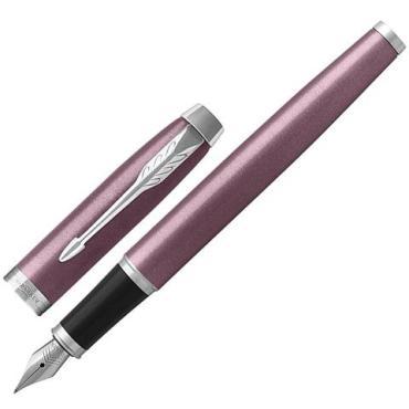 Ручка перьевая, корпус светло-пурпурный лак, хромированные детали, синяя  IM Core Light Purple CT, Parker