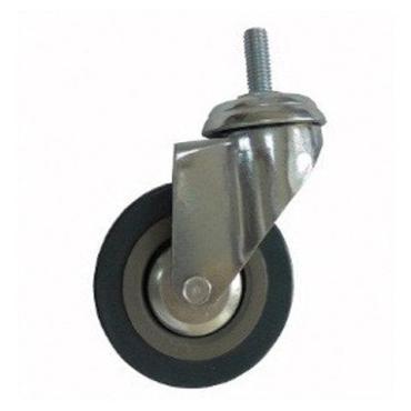 Колеса для уборочной тележки с штоком с резьбой, диаметр 75 мм., 4 штуки, Brabix