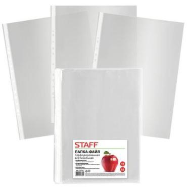 Папки-файлы большого формата (297х420 мм.) А3, вертикальные, 50 шт., 35 мкм., Staff