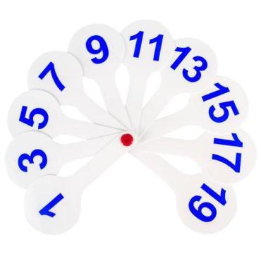 Веер-касса (цифры от 1 до 20) Пифагор, 57 гр., пластиковый пакет