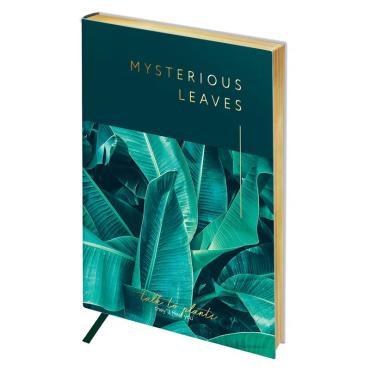 Записная книжка А6 80л. ЛАЙТ, кожзам, Greenwich Line Vision. Mysterious leaves, тон.блок, зол.срез