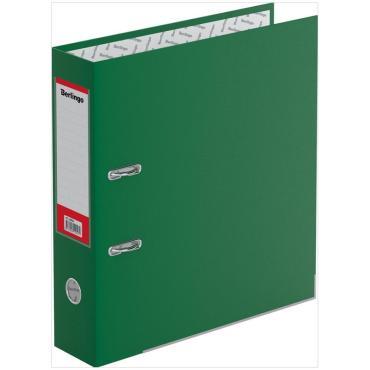 Папка-регистратор Berlingo Hyper, 80мм, бумвинил, с карм. на корешке,нижн. метал. кант, зеленая