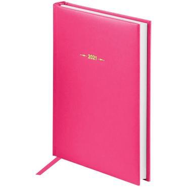 Ежедневник датированный 2021г., A5, 176л., балакрон, OfficeSpace  Ariane, фуксия