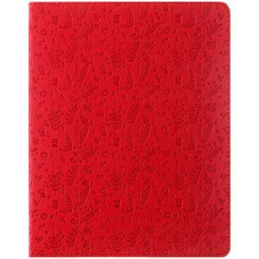 Дневник 1-11 кл. 48л. ЛАЙТ Leaves pattern. Red, иск. кожа, ляссе, тиснение