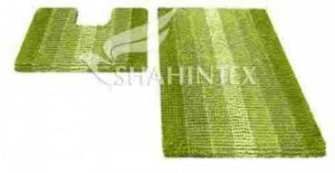 Набор ковриков для ванной 60х90 см., и 60х50 см., зеленый, Shahintex Multimakaron, 2.5 кг., пластиковый пакет