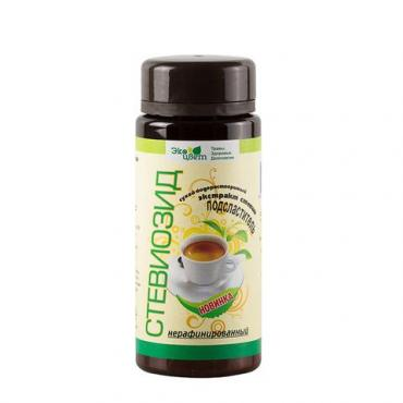 Экстракт стевии (стевиозид) нерафинированный Экоцвет, 35 гр., пластиковая банка