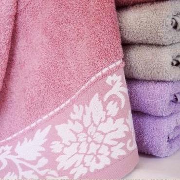 Полотенце махровое 70х130 см., 100% хлопок, 400 гр./м2, цвет светло-розовый, Муза 228 гр.