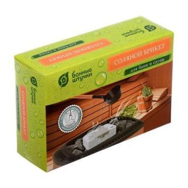 Брикет соляной для бани и сауны Банные штучки, 1,3 кг., картонная коробка