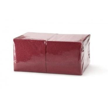 Салфетки бордовые 400 шт., БигПак, пластиковая упаковка